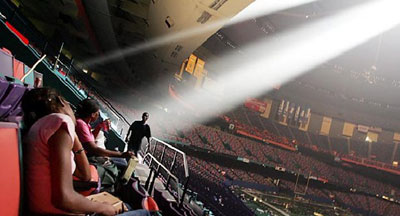 Hurricane Katrina survivors in the Superdome